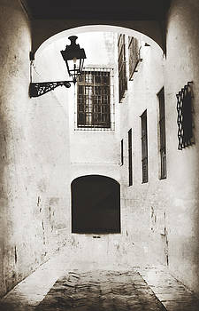 Monochrome Spanish Archway Seville Spain by Angela Bonilla