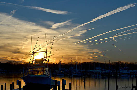 Monroe Bay Sunday Sunset by Sheila Noren