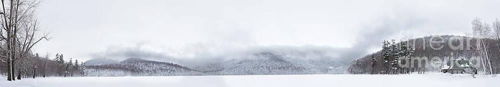 Mont Saint Hilaire  Lac Hertel On a Winter Day by Laurent Lucuix