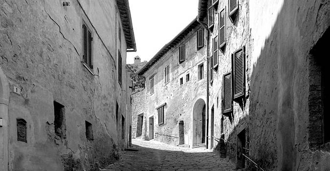 Montalcino Street by T R Maines
