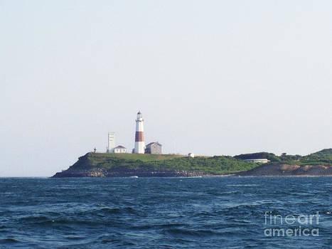 JOHN TELFER - Montauk Lighthouse From The Atlantic Ocean