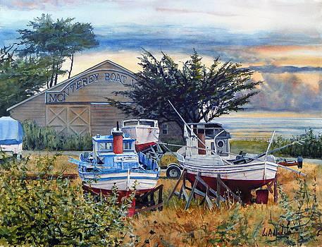 Monterey Boat Works by Bill Hudson