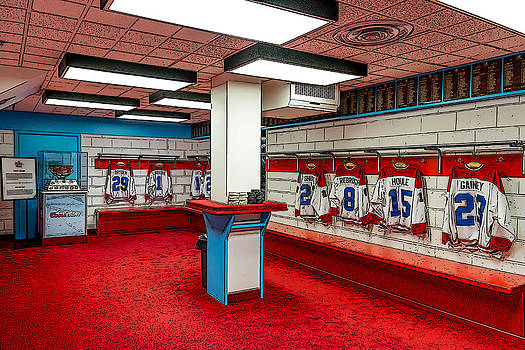Montreal Canadians Hall of Fame Locker Room by Boris Mordukhayev