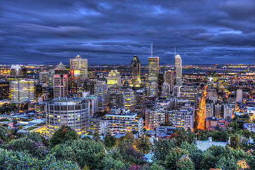 Montreal Skyline at Dusk by Shawn Everhart