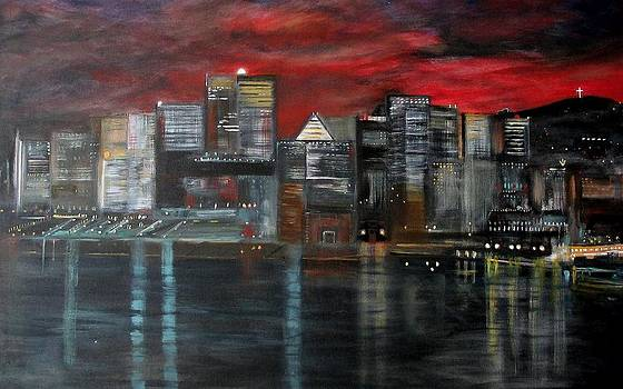 Rick Todaro - Montreal  Waterfront  Nightscape