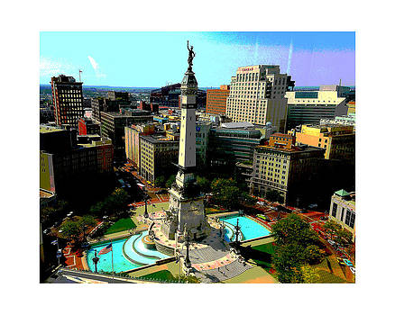 Monument Circle Indy by Rob Banayote