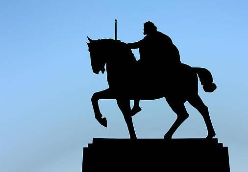 Monument to King Tomislav silhouette by Borislav Marinic