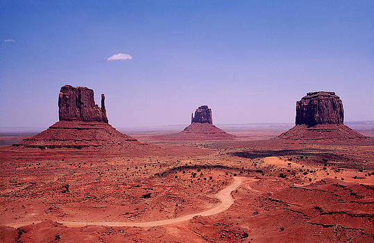 Monument Valley at High Noon. by Patrick Jennings