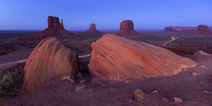 Monument Valley at Night by Maico Presente