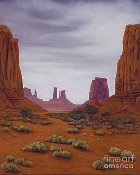 Monument Valley- Overcast by Xenia Sease