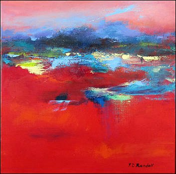 Moodie Blues on Red by Donna Randall