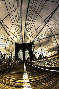 Moody Brooklyn Bridge by Chris Halford