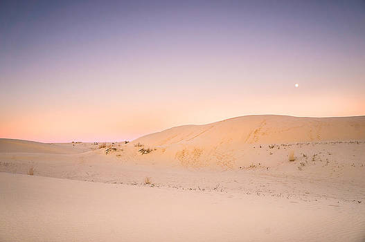 Ellie Teramoto - Moon and Sand Dune in Twilight