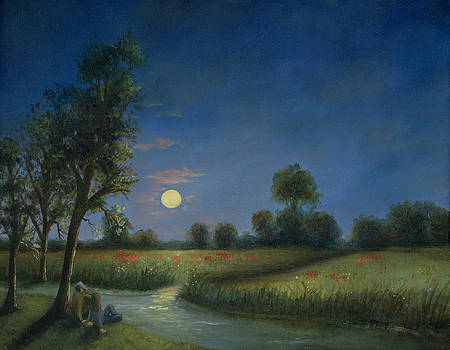 Moonlight Poppies in Argenteuil  by Cecilia Brendel