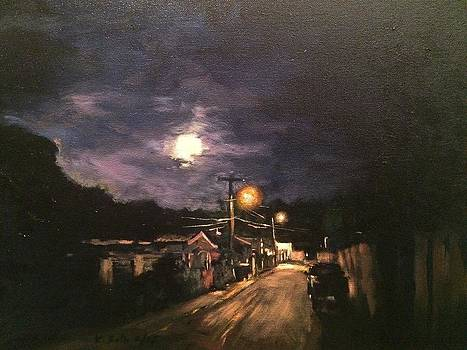 Moon over Calle Tunel by Victor SOTO
