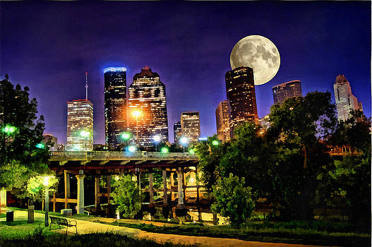 Moon Over Houston by Lester Phipps