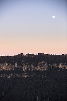 Moon over Leura by Joe Wigdahl