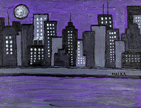 Moon Over Manhattan by Marlene MALKA Harris