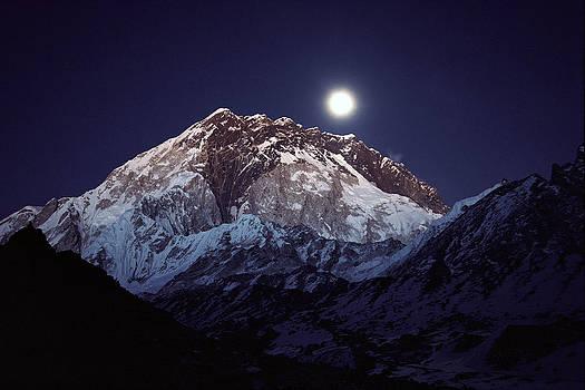 Colin Monteath - Moon Over Nuptse Nepal