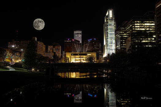 Moon Over Omaha by Jeff Swanson