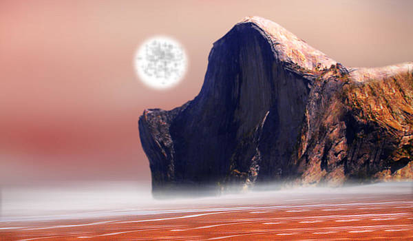 Moon Over Red Sea by Piero Lucia