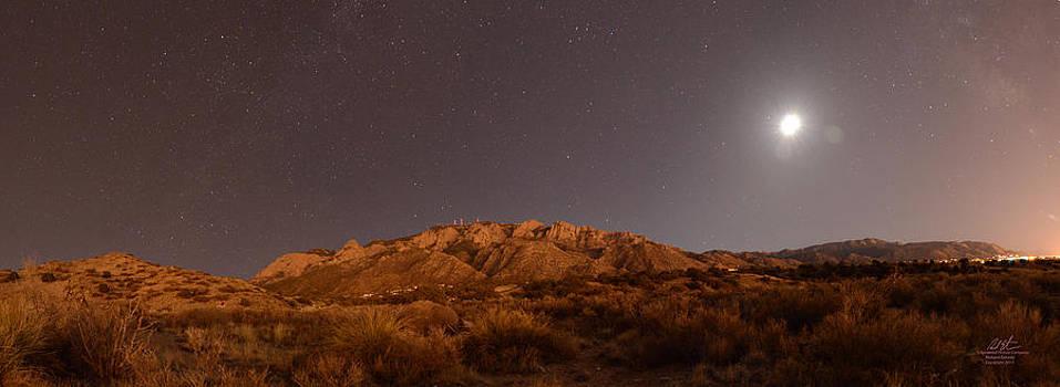 Moon Over Sandias by Richard Estrada
