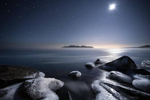 Moon Over Thunder Bay from Silver Harbour by Jakub Sisak