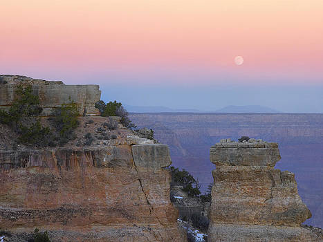 Moon over Yaki Point  by Tim Fitzharris