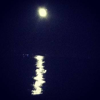Moon Sparkling Over The Water (picture by Keri Stringer