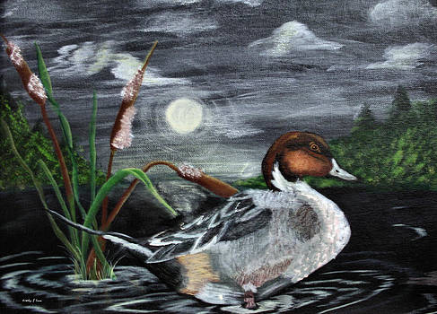 Kathy J Snow - Moonlight Mallard
