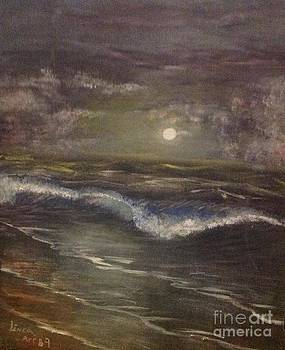 Moonlight on the beach by Linea App