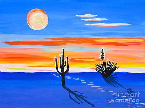 Moonlight on the Desert by Phyllis Kaltenbach