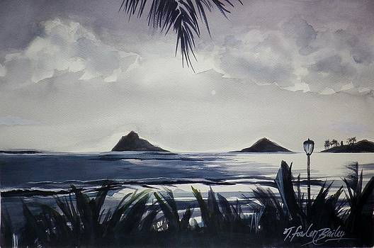 Moonlight on the Mokuluas SOLD by Therese Fowler-Bailey