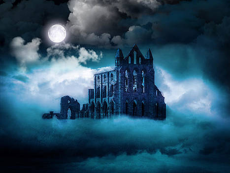 Moonlight on Whitby Abbey by Spinning Angel