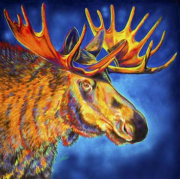 Moose Blues by Teshia Art