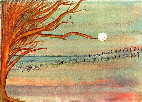 Moonlit Farmland by Derrick Parsons