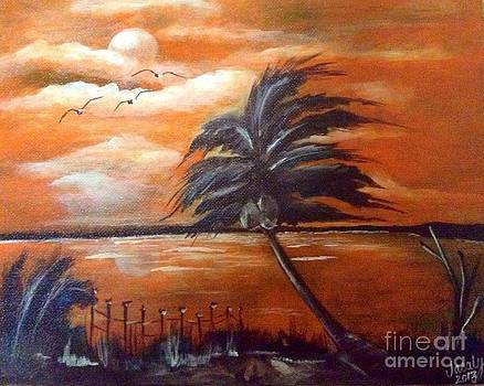 Moonlit Palm by Jacalyn Hassler Yurchuck