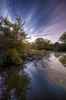 Moonlit Pond by Christopher Broste