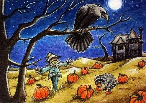 Moonlit Pumpkin Patch by Debrah Nelson