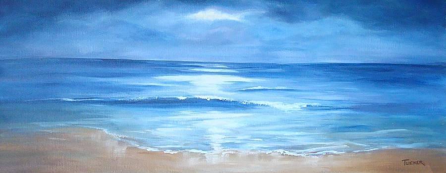 Moonlit Sea by Kathleen Tucker