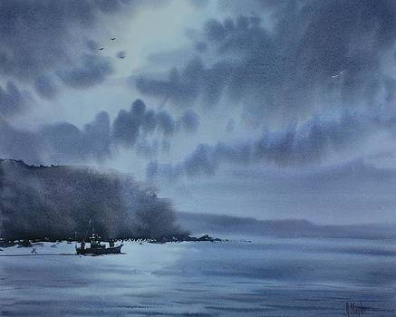 Moonlit Sea Scene by Gareth Naylor