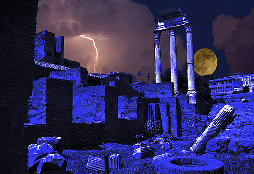 Moonlit Storm Over The Forum by Rich Walter
