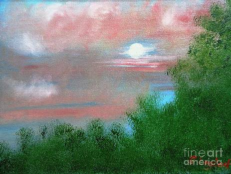 Moonrise at Sunset by Betty and Kathy Engdorf and Bosarge
