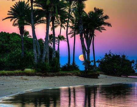 Moonrise by Mokoli'i by Robert Bishop
