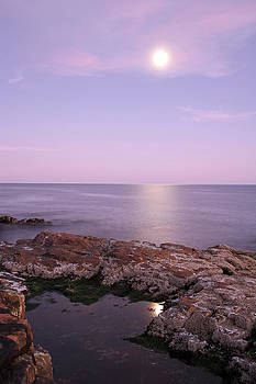 Juergen Roth - Moonrise in Acadia National Park