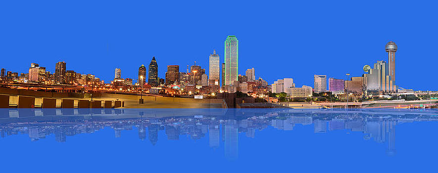Moonrise Over Dallas Reflected by Jim Martin