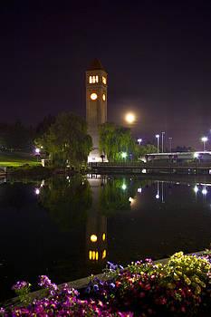 Moonrise over Riverfront Park by Dan Quam