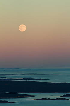 Moonrise over Schoodic Point by Acadia Photography