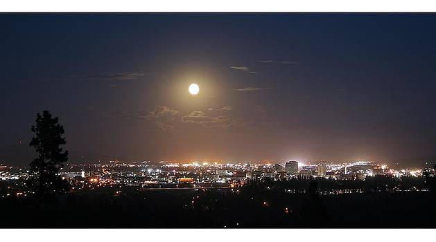 Moonrise over Spokane by Dan Quam