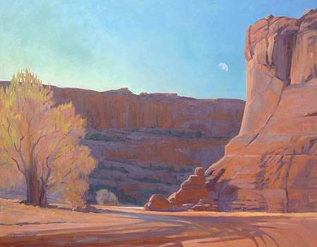 Moonrise Over the Canyon by Sharon Weaver